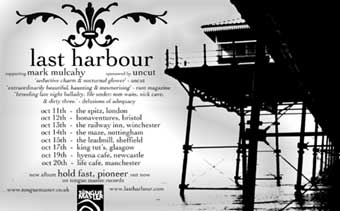 Last Harbour in concert - click for hi resolution poster
